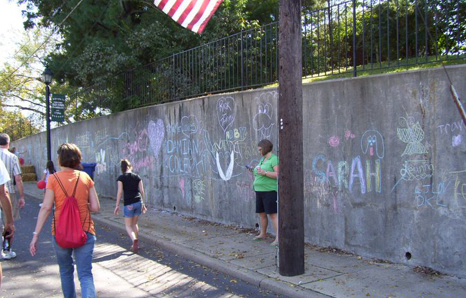 Kids Graffiti Wall during Fall Festival