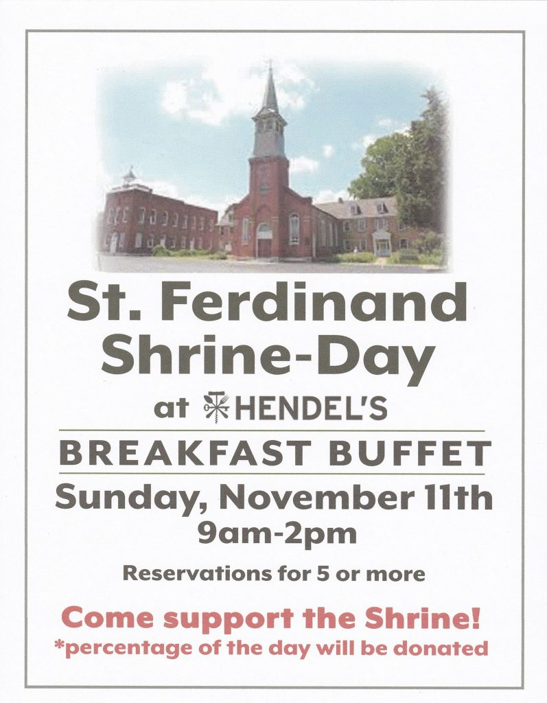 St. Ferdinand Shrine-Day @ Hendel's