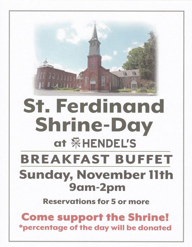 St. Ferdinand Shrine-Day @ Hendel's
